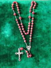 grand chapelet,christianisme,pierre rouge agate,19°s