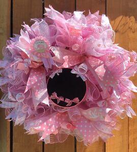Its A Girl Wreath, It's A Boy Wreath.  Chalkboard Baby Wreath, Baby Shower Gift