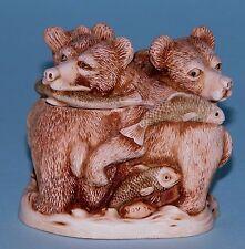 """Harmony Kingdom box Tjbe """"Life's A Picnic"""" 1995/1998, fish, bear ret. Calvesbert"""