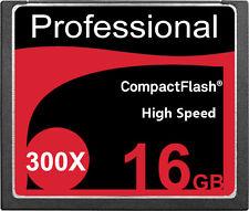 New 16GB CF CompactFlash Compact Flash Memory Card 300X 300 X 45MB/S 16 GB G 16G