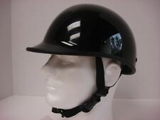 M ~ Motorcycle Biker Novelty Polo Helmet Touring Chopper Low Profile Gloss black