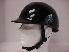 S ~ Motorcycle Biker Novelty German Polo Helmet Touring Chopper Gloss black