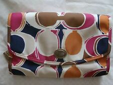 NWT COACH F77422 Park Hand Drawn Scarf Print Cosmetic Travel Kit Case