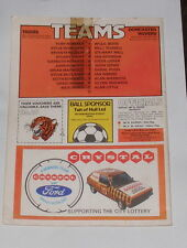 Hull City -v- Doncaster Rovers 1980-1981