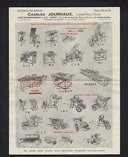 """SOISY-sous-MONTMORENCY (95) MACHINES à BOIS """"Charles JOURNAUX Constructeur"""""""