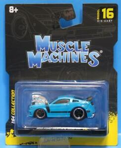 MUSCLE MACHINES #16 - 2013 FORD MUSTANG BOSS 302 1/64 BLUE MAISTO