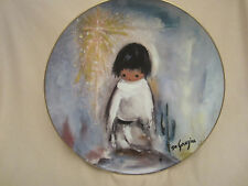 Blue Boy collector plate De Grazia Paints The Holidays Ted DeGrazia Children