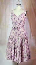 Victorian Trading Co April Cornell Lilac Bouquet Floral Sleeveless Dress XL