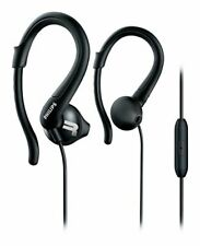 Philips Action Fit Sports Hooks Headphones with Mic - Black