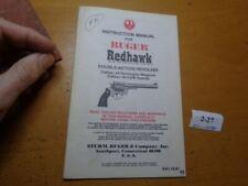 Ruger Redhawk Pistol Instruction Owner's Manual Paperwork