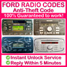 FORD RADIO CODE Expert & Instant Service Puma Courier Cougar S & B-Max Edge