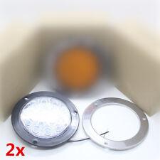 Weiß 14cm LED Rücklampe Scheinwerfer 12/24V Lkw Anhänger Wohnwagen Beleuchtung