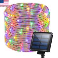 Solar Rope Night Fairy String Twinkle LED Lights Waterproof Outdoor Garden Decor