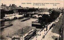 CPA PARIS Perspective de la Seine vers le Louvre et l'Hotel de Ville (302712)