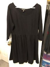Forever 21 Long Sleeved Black Dress Size XXXL Triple Extra Large Cotton Spandex
