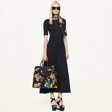 RALPH LAUREN Women's Black Floral Canvas Ricky Stunning Oversize Tote.