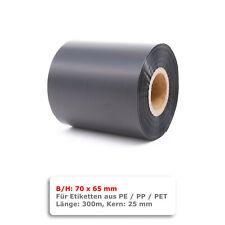 100x80mm Thermotransferfolie Etiketten Rolle PET Polyester Typenschilder silber