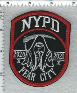 Police -FEAR CITY - (2020 - 2021) - Subdued Novelty Shoulder Patch