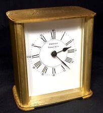 VINTAGE TIFFANY 7 CO CLOCK PORTFOLIO GERMANY BRASS ARTHUR ANDERSEN TIME DESK ART