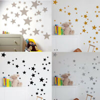 110Pcs Multi-sized Star Wall Stickers DIY Baby Room Decals Bedroom Vinyl Decor