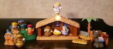 Fisher Price 2002 Little People Musical LiteUp Nativity Set Manger, Jesus & More