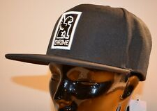 CHROME INDUSTRIES Patch Snapback Baseball Cap Hat (Black/White) One Size