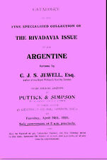 Catalogue of the Specialized Collection of the Rivadavia Issue  by C. Jewell
