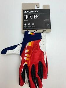 new Giro TRIXTER bicycle Long Finger GLOVES men's Horizon Red / White / Blue