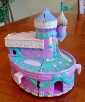 "Vintage Trendmasters 5""H Glitter Purple Castle Polly Pocket 1995"