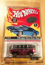 2007 Hot Wheels Red Line Club Series 7 PINK VW Deluxe Station Wagon in Protector