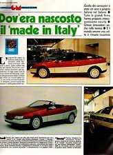 Z12 Ritaglio Clipping 1986 Salone di Torino Carrozzieri Italiani Design