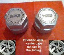 """1988-1992 2 Pontiac Firebird Center Caps Hub WS6 16"""" 20 spoke rim 1661 3.25"""""""