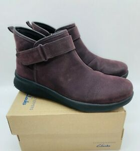 CLOUDSTEPPERS by Clarks Women's Sillian 2.0 West Booties - AUBERGINE US 7.5
