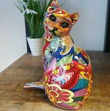More details for cat bright colourful graffiti groovy art ornament, cat figurine, gift boxed