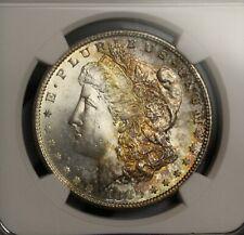 1880 S Morgan Silver Dollar MS63 NGC Rare Gem Toning Very Nice Color Toned Coin
