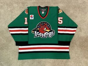 Rockford Icehogs Game Worn Used Specialty AHL CCM Authentic Jersey Bois Enforcer