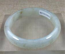 57.5 mm Certified Grade A Natural ICE YELLOW jadeite Emerald JADE Bracelets