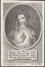 Maria 19.Jh. Lithographie Innsbruck Sacro Cuore Sacred Heart