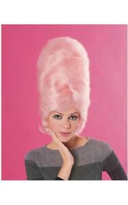 PINK BEEHIVE 1960S ADULT WOMENS WIG
