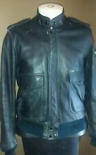 Hein Gericke Men's M Black Leather Touring Motorcycle Jacket SZ 42 Padded Elbow