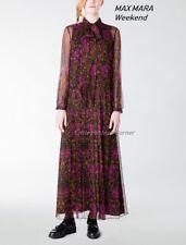 ❄ MAX MARA Weekend Long Printed Silk Dress size 6 USA_ 8 GB_ 36 D_ 40 I_ 38 F