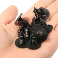 100PC 20mm Head 8mm Hol Nylon Trim Boot Rivets Push Clip Fastener For Car