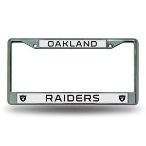 Oakland Raiders Chrome Metal License Plate Frame