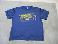 NBA Cleveland Cavaliers Basketball Shirt Adult Extra Large Blue Yellow Dri Fit