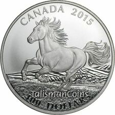 Canada 2015 Wildlife in Motion $100 Commemorative #5 Horse Galloping Pure Silver