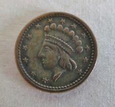 1864 Union Forever Princess Head Shield Tail Civil War Token Coin Estate Find