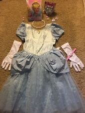 New ! Girl's Walt Disney World Cinderella Costume ~ Wig /Crown ~ Halloween 10/12