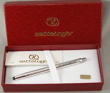 Settelaghi by Ferrari da Varese Sterling Silver Greek Key Ballpoint Pen w/Stylus