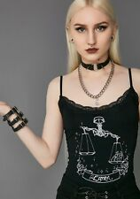 Widow Collection Dolls Kill Libra Horoscope Lace Gothic Tank Top Sz XS
