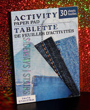 "DENIM PRINT 5"" x 7"" NOTEPAD 30 SHEETS 3 DESIGNS novelty jeans paper pad fashion"